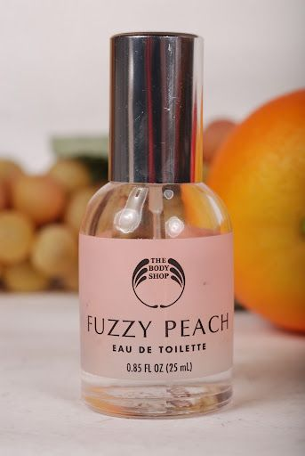 Body Shope Fuzzy Peach perfume - i think we all smelled of this in the 90s
