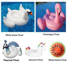 Unicorn Flamingos Cisne Branco Melancia gigante Piscina Inflável Float Colchão de Ar Anel de Natação Adulto Crianças Brinquedos Piscina de Água(China (Mainland))