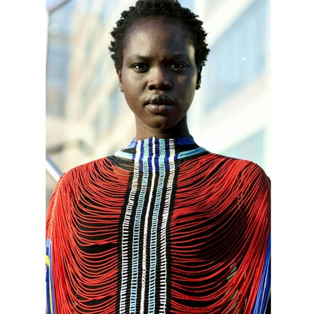 The Dinka women of South Sudan wear a well crafted necklace called the Alual, which is made up of tiny glass beads with cowries woven in. The women wear the necklace from chilhood until their wedding day as it is believed to increase fertility. The Alual is also an indication of the wealth of the woman's family – the fuller it is, the richer she is. #fashion #alual #fashionblogger #fashionista #education #culture #knowledge #madeinafrica #tradition #jewelry #necklace #southsudan