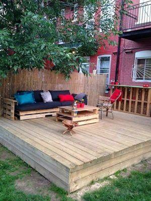 best 25+ pallet patio decks ideas on pinterest   wooden patios ... - Patio Ideas Cheap