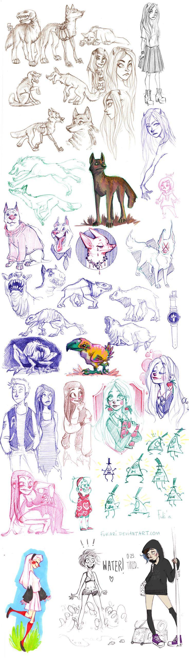 sketch dump from job by Fukari.deviantart.com on @deviantART