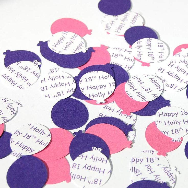 Personalised balloon table confetti, perfect for parties!Also choose to add matching place cards to your order. Place cards will feature your chosen colour balloon/s and a personalised balloon (as shown in the photograph). Please note: personalised balloons used on the place cards will all be slightly different and will show different sections of your chosen personalisation. We cannot guarantee which words will appear.Pack of 90 balloons, with a wide range of colours to choose from and…