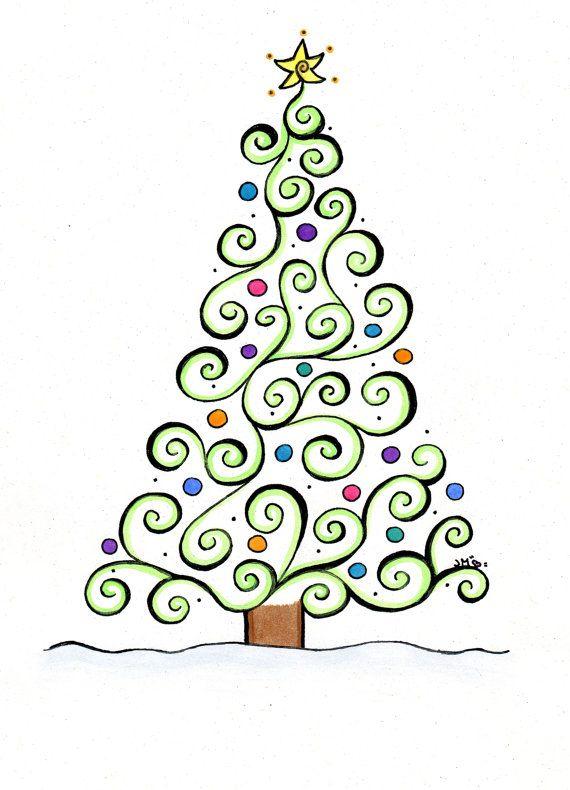 whimsical christmas tree clip art free - photo #32