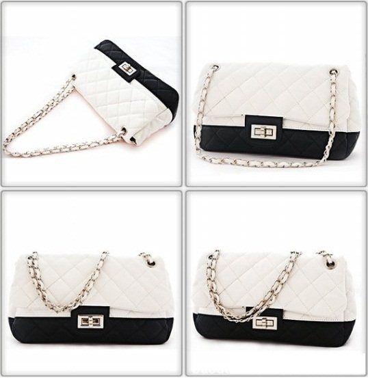 20004 Black White, IDR 112.000, Tinggi : 15cm,  Panjang : 26cm,  Tebal : 7cm,  Tali Panjang : Ada,  Bahan : PU, Berat : 400 gram