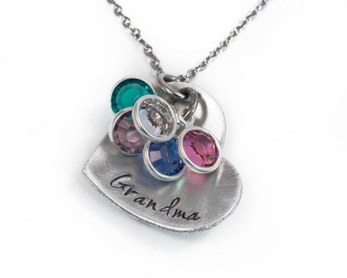 Heart Grandma Necklace : Aluminum : Hope of My Heart Designs, Personalized Jewelry