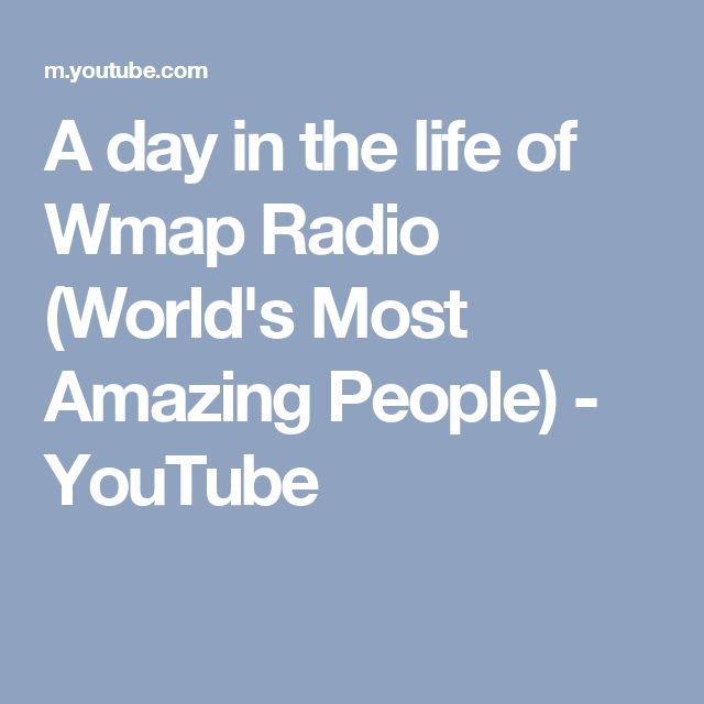 A day in the life of Wmap Radio (World's Most Amazing People) - YouTube