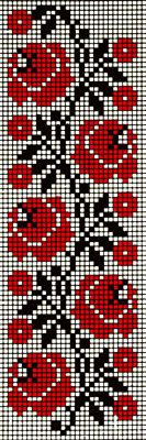 ukrainian cross stich rose