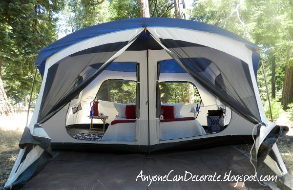 Embark 9 person cabin tent with screen porch 14 39 x15 for Glamping ideas diy
