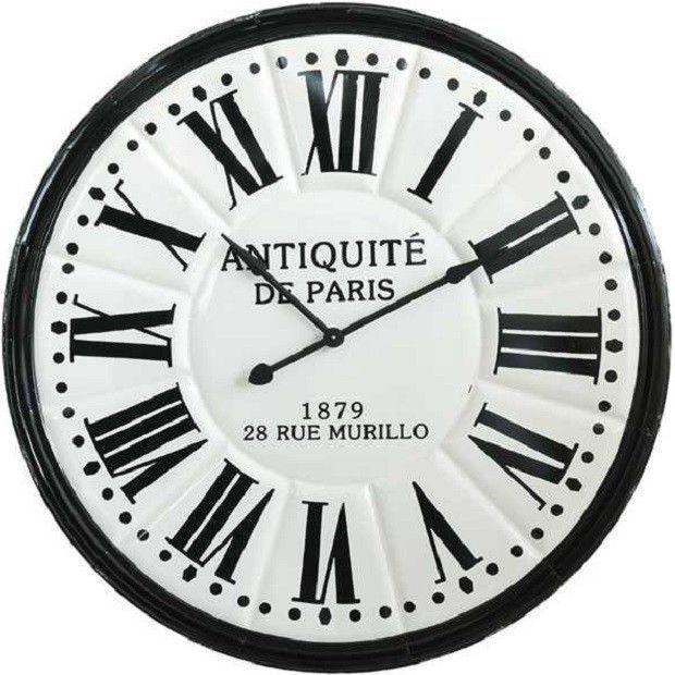 Round Embossed Antiquite De Paris Wall Clock Ew Antiquite Clock Embossed Paris Wall Paris Wall Clock Farmhouse Wall Clocks Rustic Wall Clocks