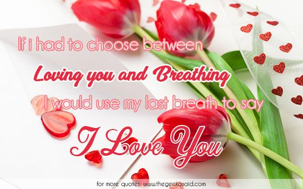 If i had to choose between loving you and breathing, i would use my last breath to say; I love you.  #between #breath #breathing #choose #last #love #loving #quotes #say