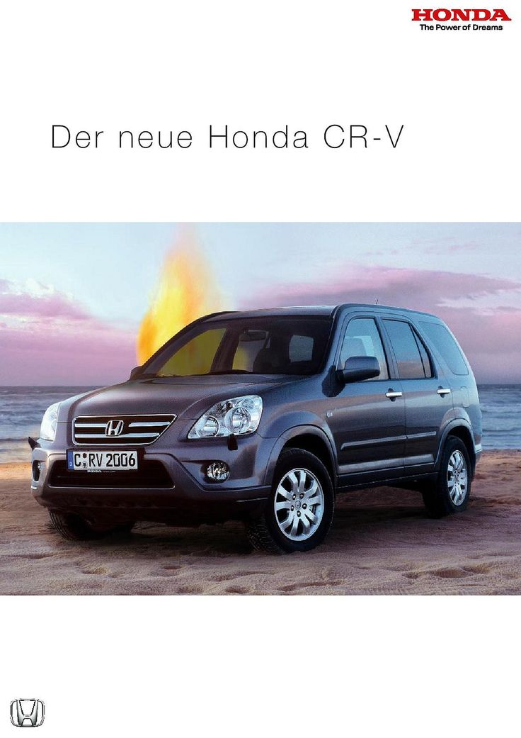 Honda CR-V Mk2 Germany Brochure 2006