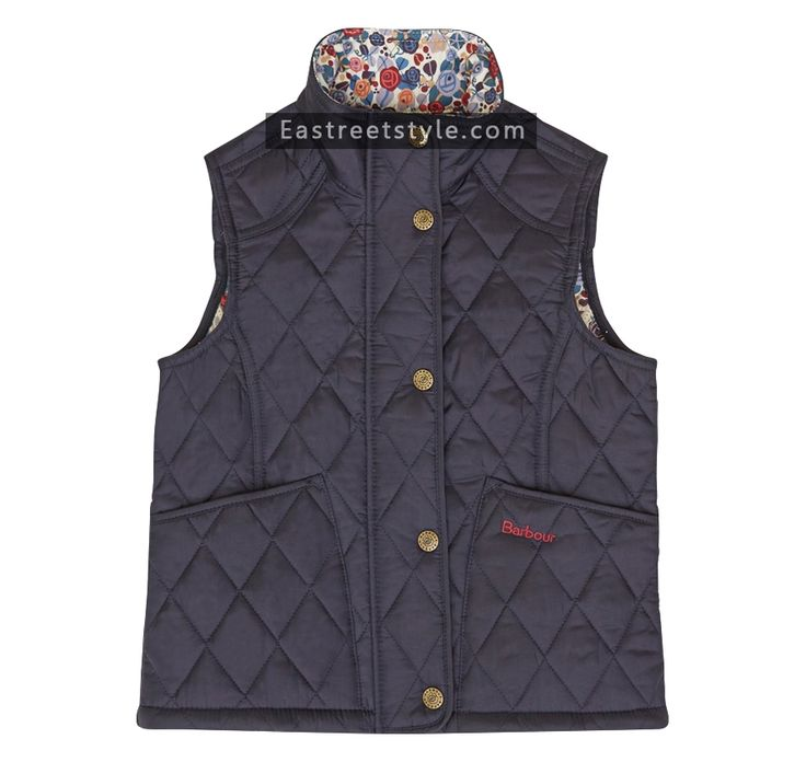 Barbour Girl's Epworth Gilet at www.eastreetstyle.com #Barbour Jackets Sale
