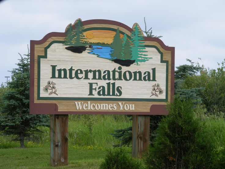International Falls, Minnesota - this is right across the ...