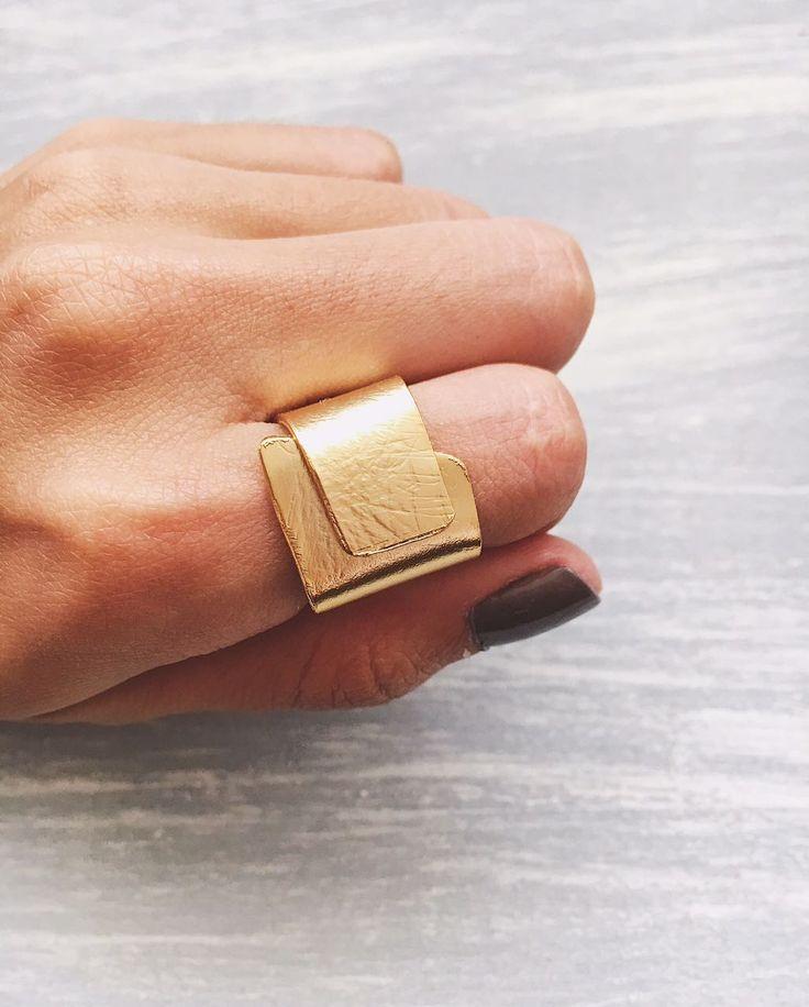 joyeria artesanal, anillo cuadrado