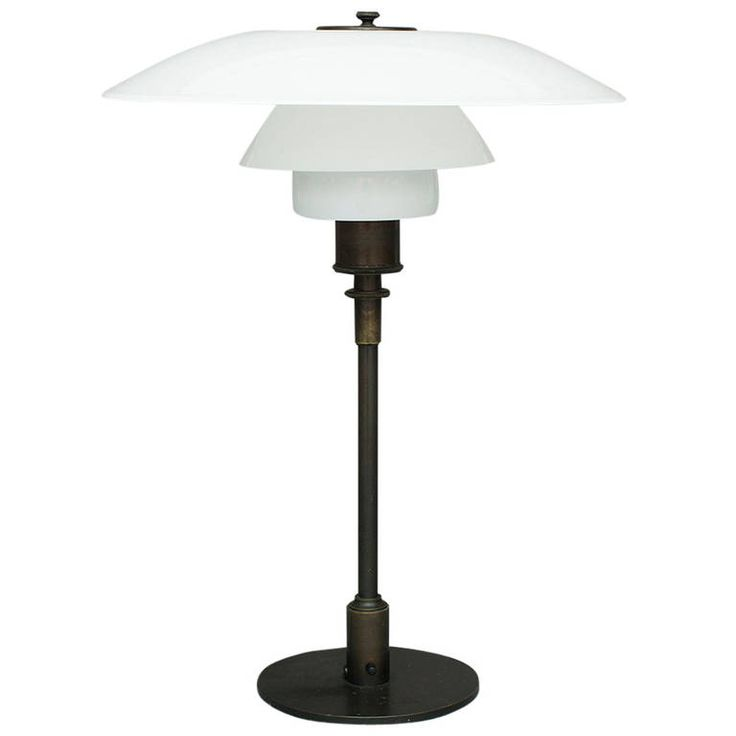 PH 4/3 Table Lamp by Poul Henningsen for Louis Poulsen   From a unique collection of antique and modern table lamps at https://www.1stdibs.com/furniture/lighting/table-lamps/