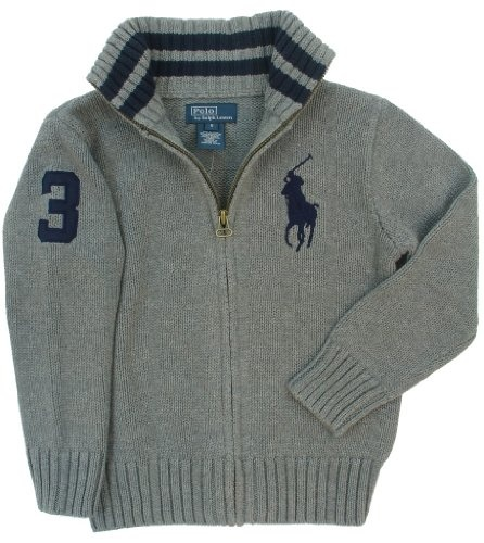 Polo Ralph Lauren Boys Big Pony 1/4 Zip Pullover Sweater