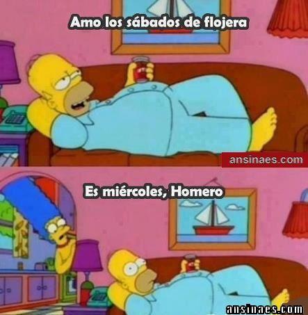 Memes de Homero - Amo los sábados de flojera...