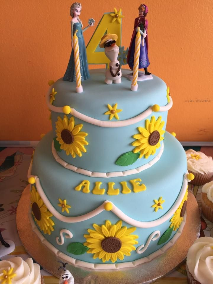 frozen fever birthday cakes
