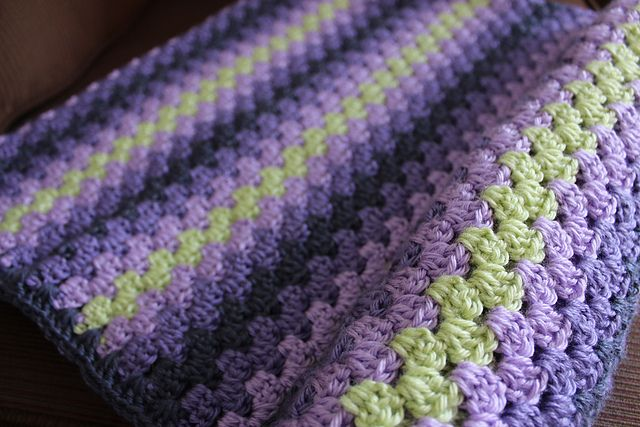 Lori's Purple and Green Granny Stripe (from Ravelry)