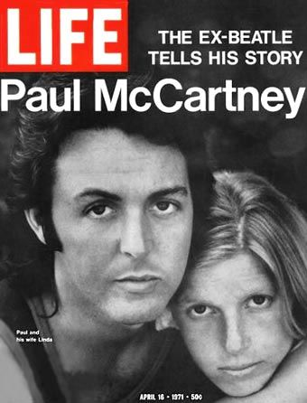 """1970, 27 year-old Paul McCartney issued a press statement, announcing that The Beatles had split, (one week before the release of his solo album). McCartney said, """"I have no future plans to record or appear with The Beatles again, or to write any music with John"""". John Lennon, who had kept his much-earlier decision to leave The Beatles quiet for the sake of the others, was furious. When a reporter called Lennon to comment upon McCartney's resignation, Lennon said, """"Paul hasn't left. I sacked…"""