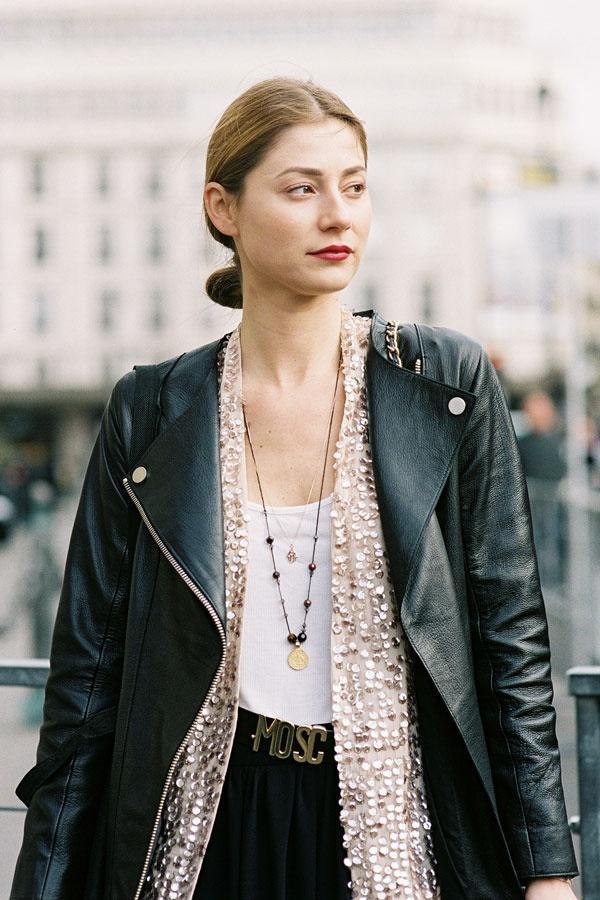 : Biker Jackets, Paris Fashion Week, Jackets Combos, Paris Small, Localfashion, Leather Jackets, Moshino Belts, Local Fashion, Fashion Image