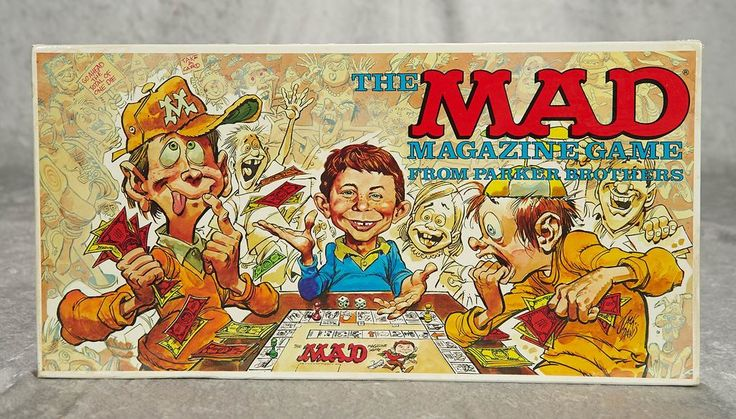 """""""The Mad Magazine Game"""" by Parker Brothers, mint condition. September 26, 2018 R…"""