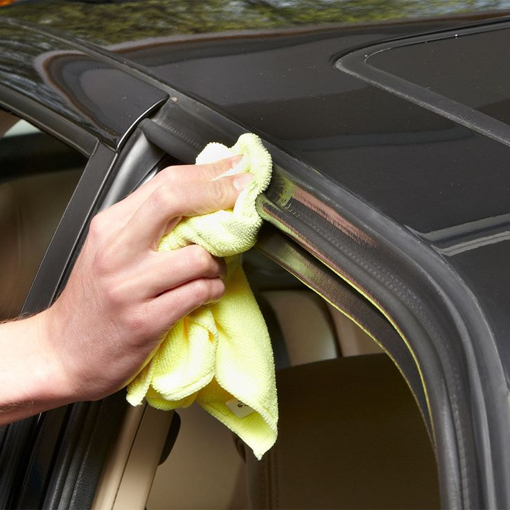 If water seeps between your door and weather stripping and freezes, you could be frozen out of your car or truck. To prevent the water from freezing you out, coat both the weather stripping and the mating door surfaces with spray silicone. To avoid spraying silcone into your car's interior, spray it directly onto a clean rag. Then wipe the silicone lube onto your door and trunk weatherstripping. Repeat the procedure on door mating surfaces and the truck lid.
