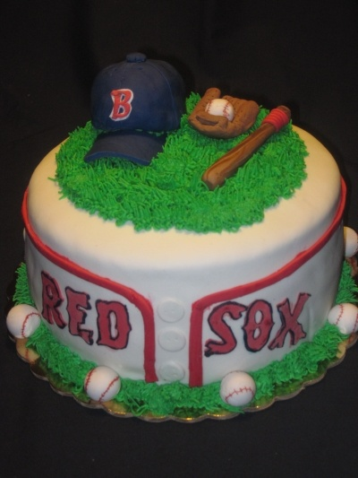 Red Sox Birthday Cake By sugarandstuff on CakeCentral.com
