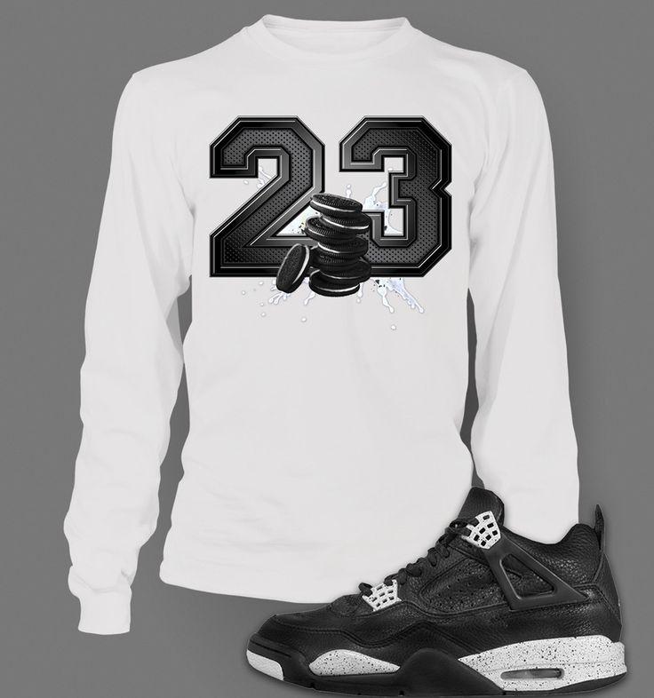 60c845792121 ... Long Sleeve Graphic T-shirt To Match Retro Air Jordan 4 Oreo Shoe ...