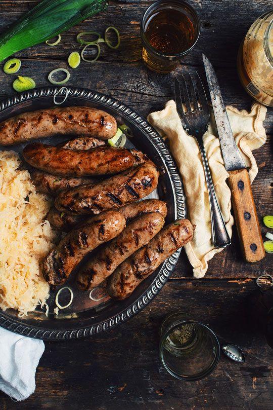 Saucisses Bratwurst aux poireaux et à la bière - Le Coup de Grâce
