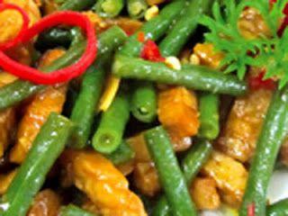 Resep Tumis Kacang Panjang Tahu Tempe | Resep Masakan Spesial Enak Lezat