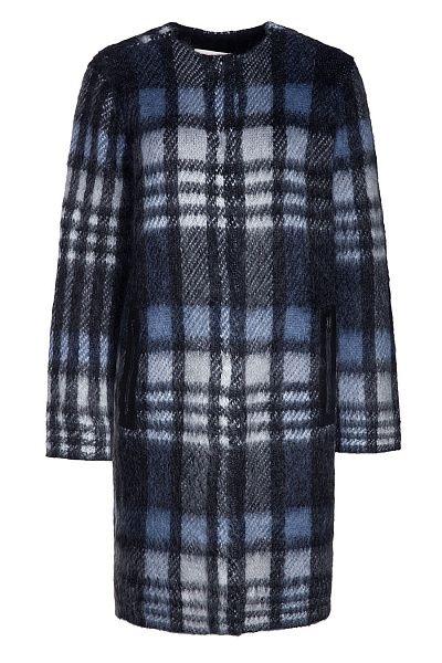 TORY BURCH - Пальто из мохера с добавлением нейлона и принтом в клетку в Интернет-магазине NAME'S