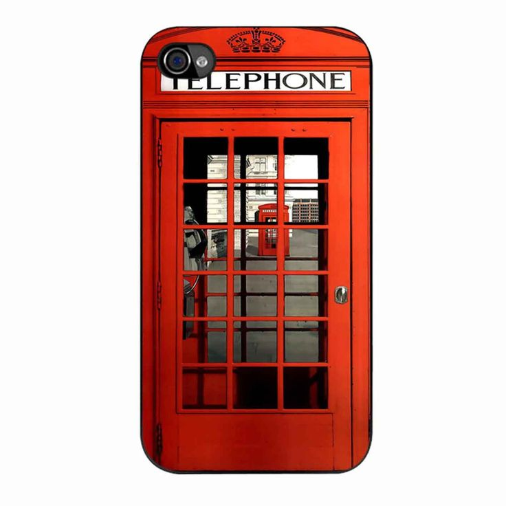 British Red Phone Booth iPhone 4/4s Case : British, Phones and iPhone