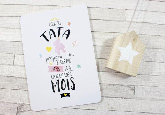 Carte postale  Tu vas être tata   annonce grossesse