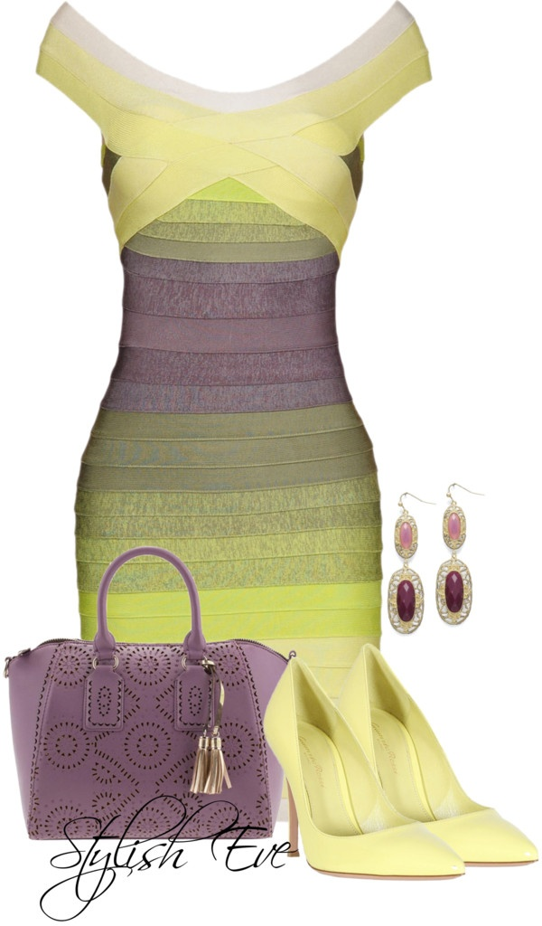 bandage dress. the bright colors are fun, but I don't know where you would wear it...