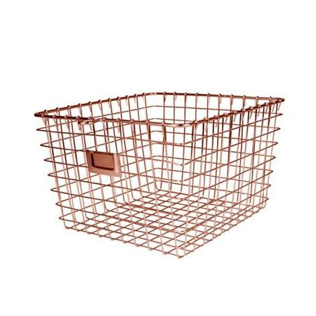 The Medium Storage Basket provides a helpful storage solution for any room. Organize your bathroom by storing lotions and soaps, the closet to store acces...