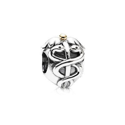 Life Saver - Sterling silver charm with 14k gold. $45 #PANDORA #PANDORAcharm