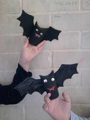 vleermuis knutselen met wc rolletjes
