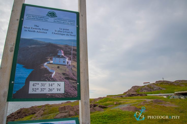 Standing at the most easterly point in North America at Cape Spear National Historic Site