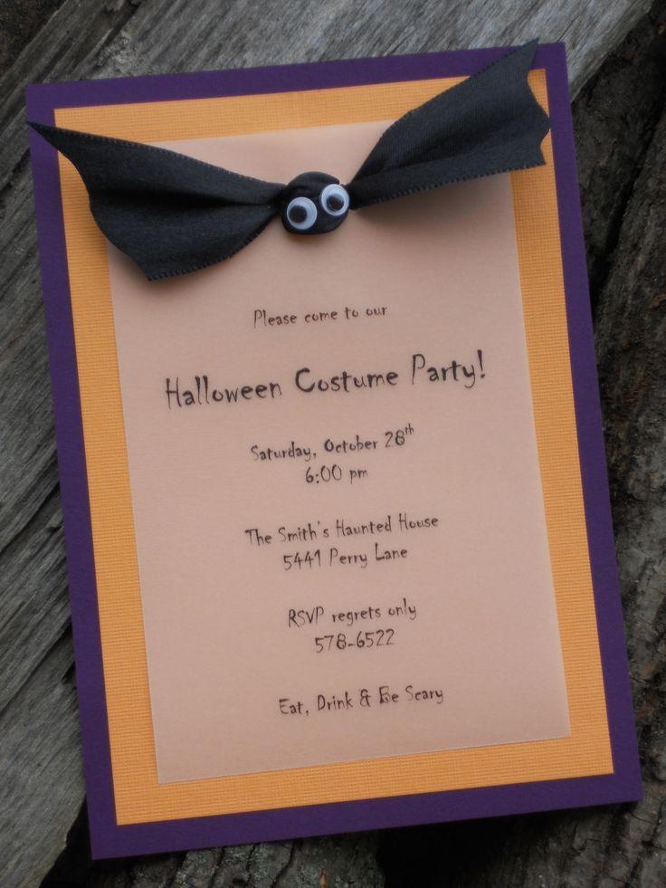 22 best Halloween invitations images on Pinterest | Birthday ...