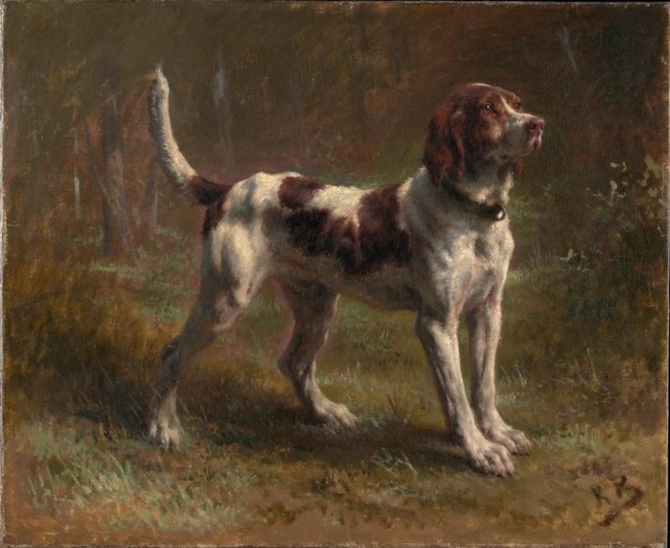 Rosa Bonheur,A Limier Briquet Hound, c. 1856