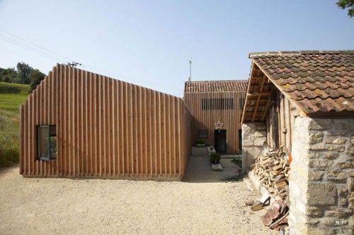 L-shaped layout vernacular style farm house refurbishment