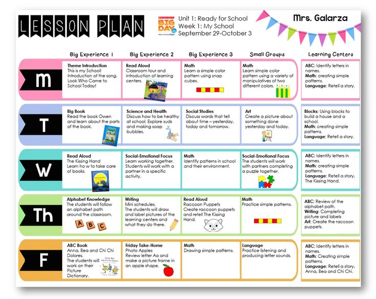 ... Day Pre-K scholastic curriculum. Lesson plan format, get yours FREE