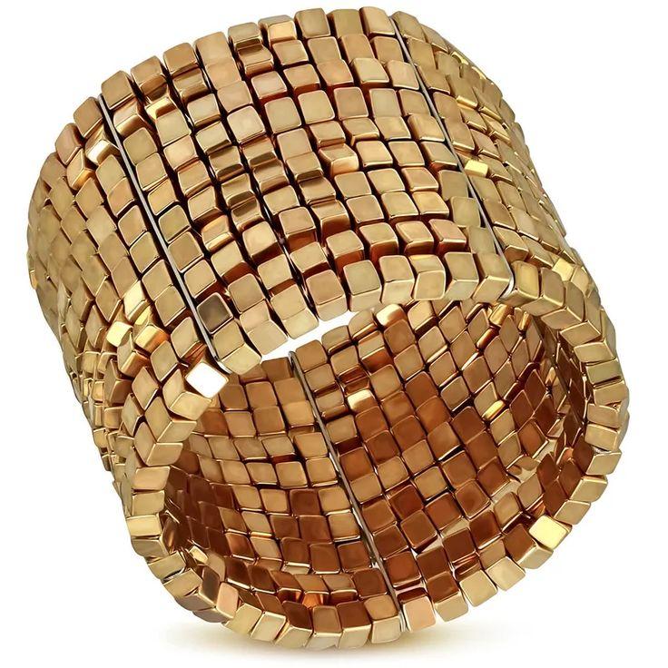 Módní dámský náramek vyrobený z bižuterního kovu