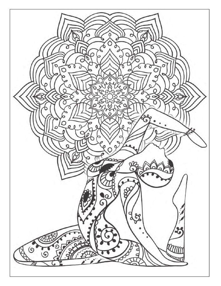 Yoga And Meditation Coloring Book For Adults With Poses Mandalas By Alexandru Ciobanu