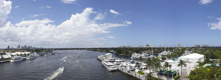 A landscape of Ft. Lauderdale from the 17th street Causeway.
