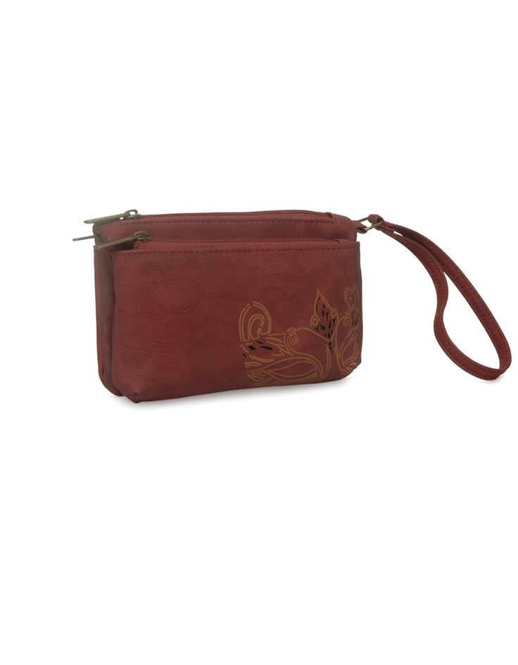 MP Daisy Aura Red - An accentuated red pouch by Baggit