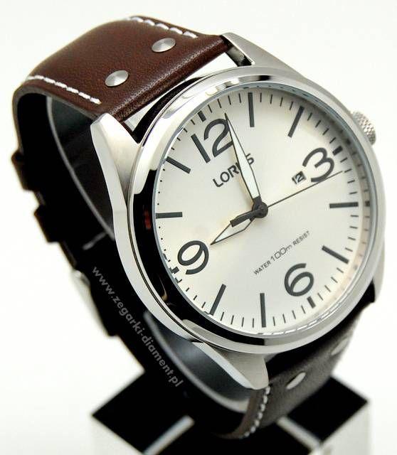 Men's upper Leather round dial Lorus