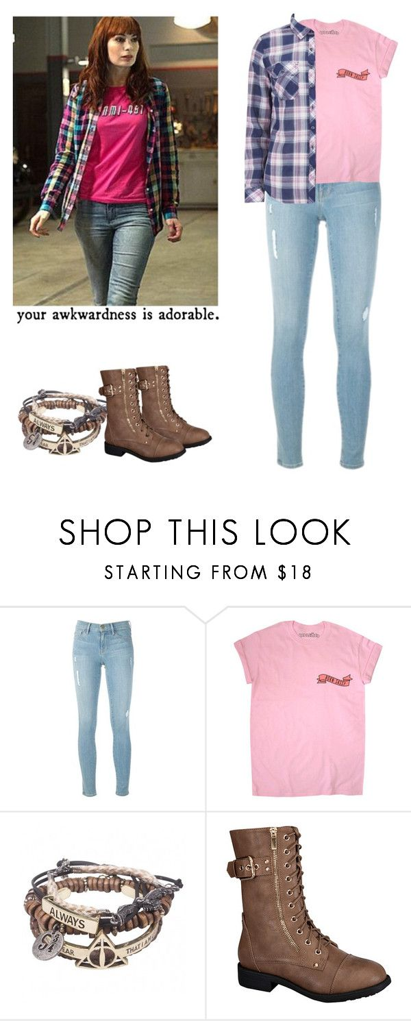 """Charlie Bradbury - spn / supernatural"" by shadyannon ❤ liked on Polyvore featuring Frame, Top Moda and Superdry"