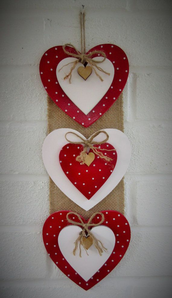 Lovehearts Tripple Heart Bannerwall by LoveheartsWreaths on Etsy